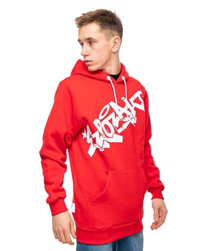 Bluza Z Kapturem El Polako Graffiti Red