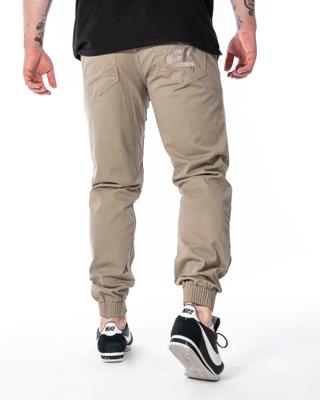 Spodnie Materiałowe Jogger Slim El Polako Ep Tag Beżowe