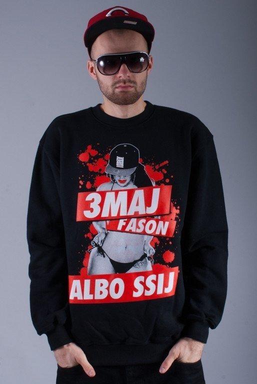 3MAJ FASON BLUZA BEZ KAPTURA SSIJ BLACK-RED
