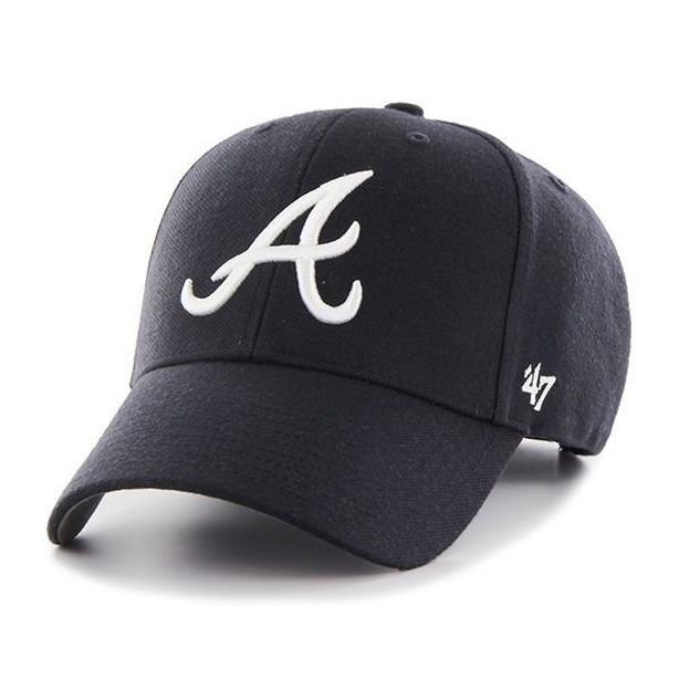 47 BRAND CAP MLB ATLANTA BRAVES NAVY