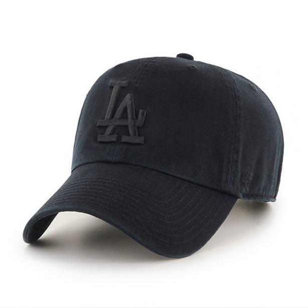 47 BRAND CAP MLB LOS ANGELES DODGERS BLACK-BLACK