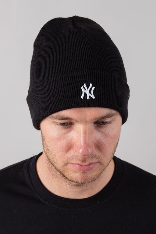 47 BRAND WINTER CAP CUFF KNIT NEW YORK YANKEES BLACK-WHITE
