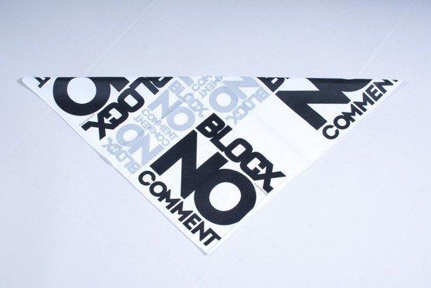 BLOCX BANDANA NO COMMENT WHITE