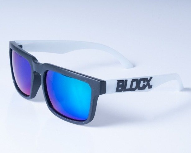 BLOCX OKULARY SQUARE MAT BLACK WHITE COL