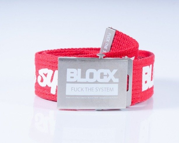 BLOCX PASEK PARCIANY CLASSIC RED