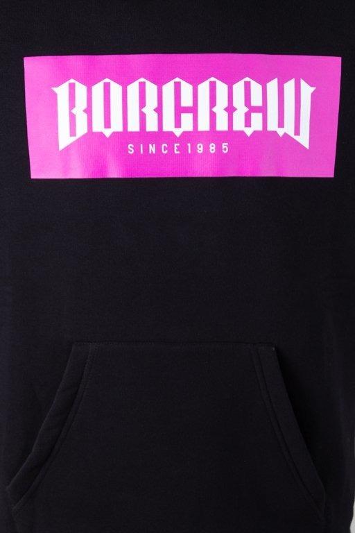 Bluza Bor Hoodie Crew Black-Pink