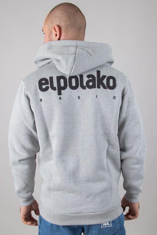 Bluza El Polako Hoodie Zip Little Classic Grey
