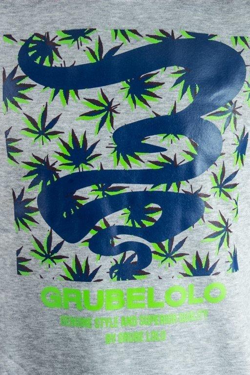 Bluza Grube Lolo Logo Full Ganja Melange