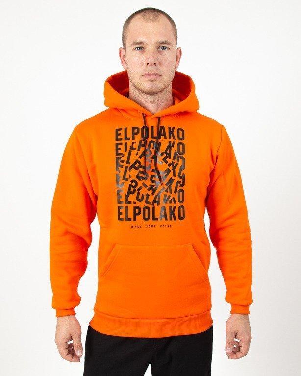 Bluza Hoodie El Polako Noise Orange