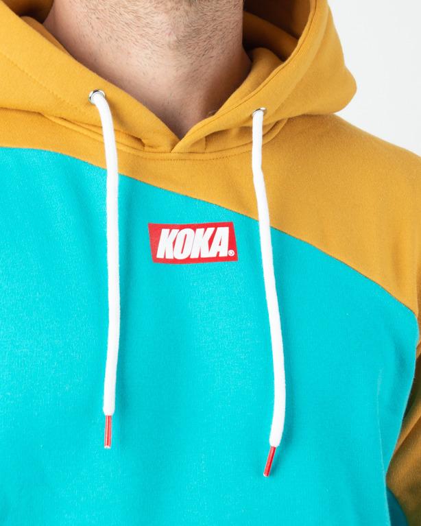 Bluza Hoodie Koka Connected Turquoise