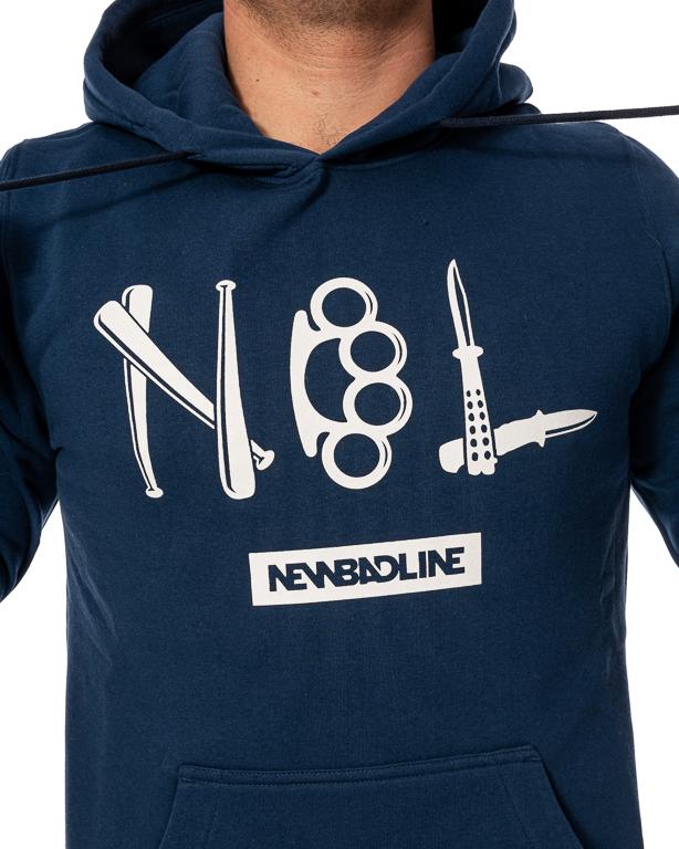 Bluza Hoodie New Bad Line Crime Navy