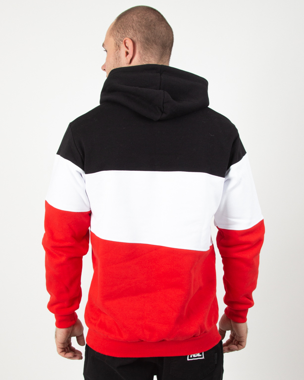Bluza Hoodie Patriotic App White-Red