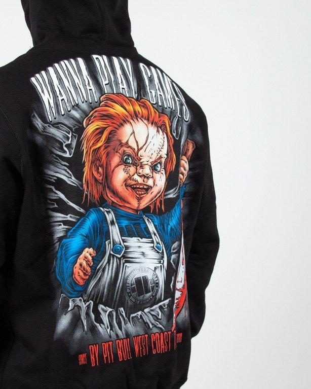 Bluza Hoodie Pitbull  Chucky Black