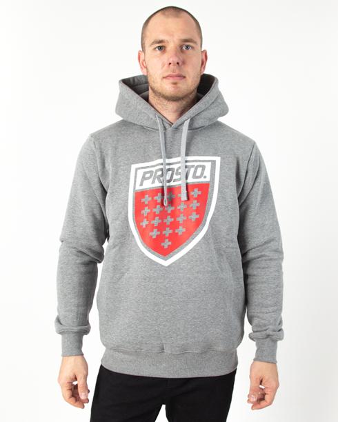 Bluza Hoodie Prosto Shield XX Grey