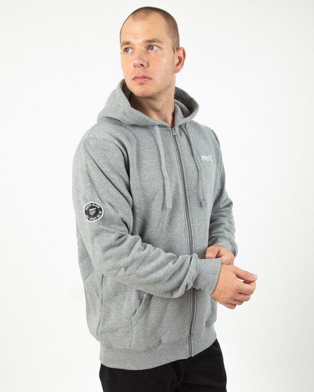 Bluza Hoodie Zip Prosto Onthe Grey