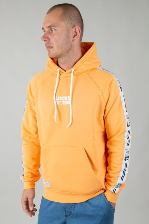 Bluza Lucky Dice Hoodie Tape Logo Orange