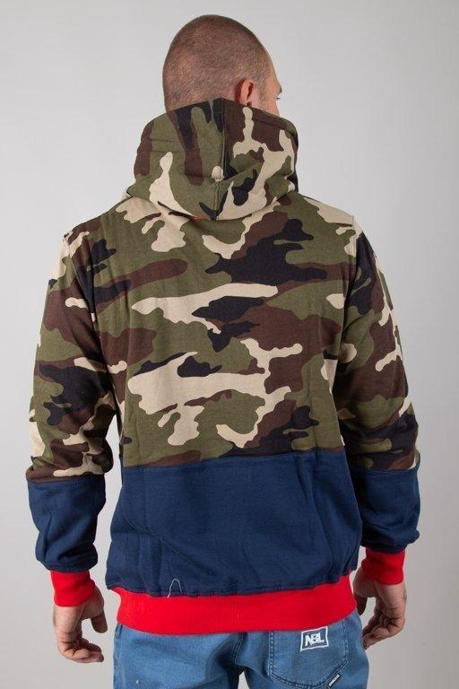Bluza Mass Hoodie Truman Camo Green-Navy