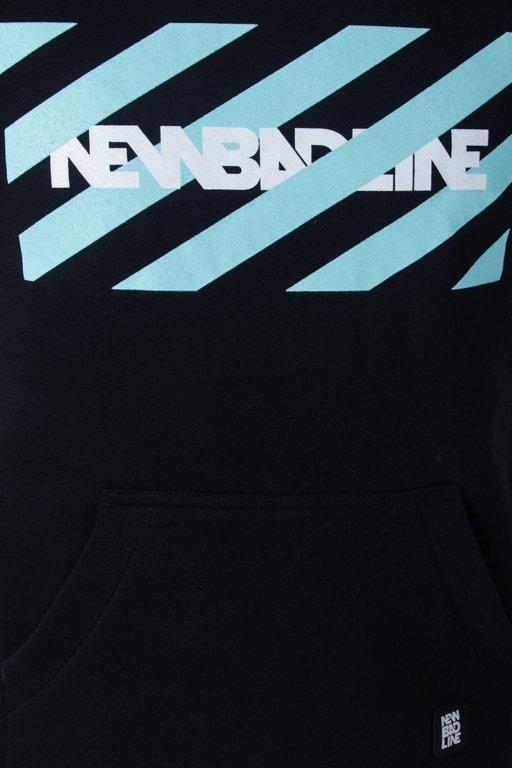 Bluza New Bad Line Hoodie Stripes Black