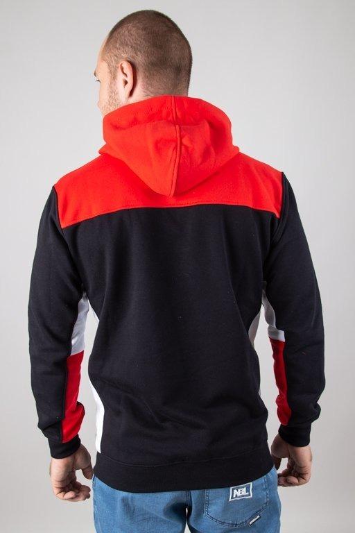Bluza Patriotic Hoodie Half Zip Tag Slices Black