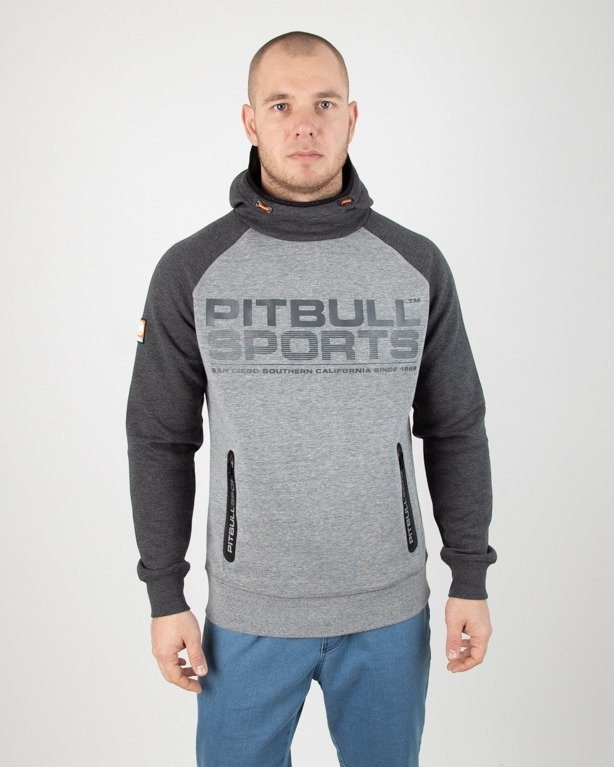 Bluza Pitbull Hoodie Logan 2 Colors Melange-Grey