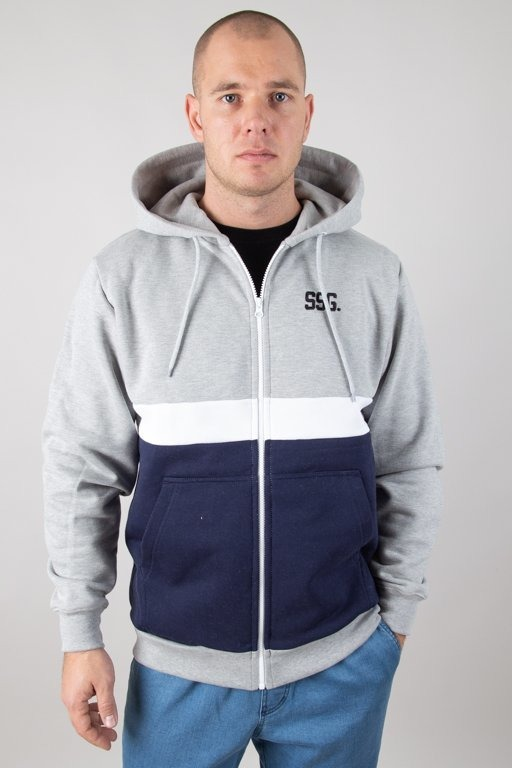 Bluza SSG Hoodie Zip Double SSG Melange-Navy