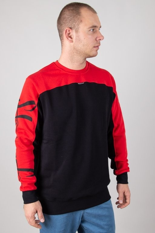 Bluza Stoprocent Tagsleeve Black-Red
