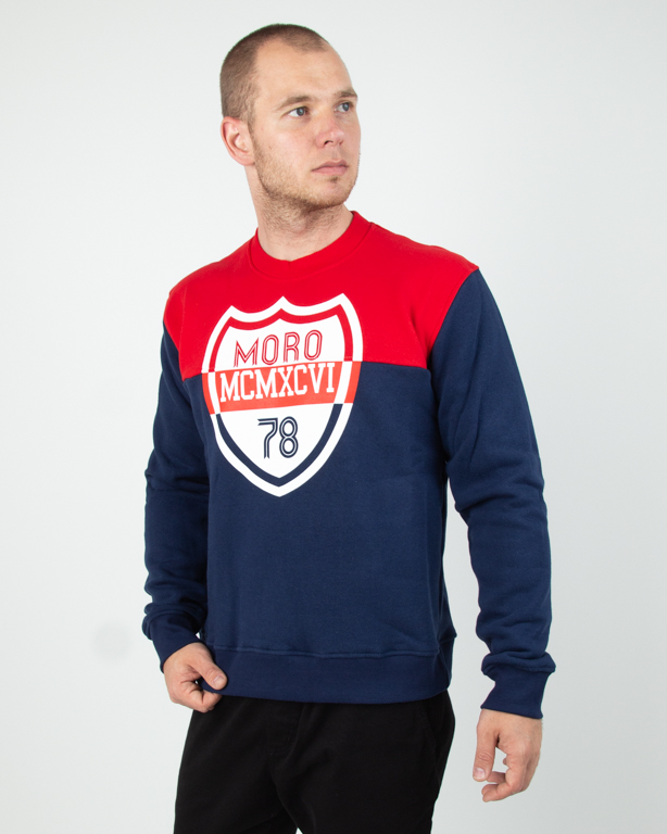 Crewneck Moro Shield Navy-Red