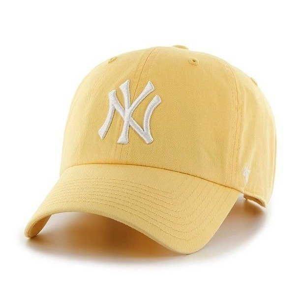 Czapka 47 Brand Clean Up New York Yankees Light Yellow