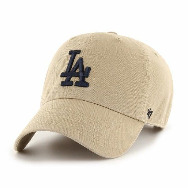 Czapka 47 Brand Los Angeles Dodgers Clean Up Beige-Black