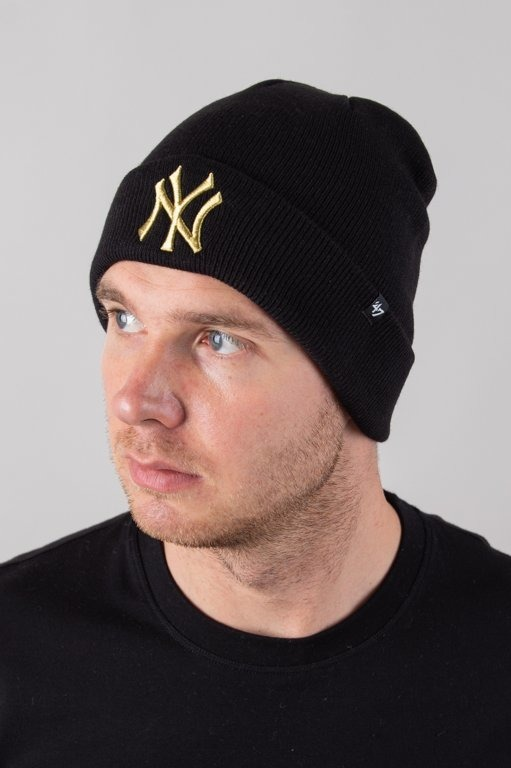 Czapka 47 Brand Zimowa Cuff Knit New York Yankees Black-Gold