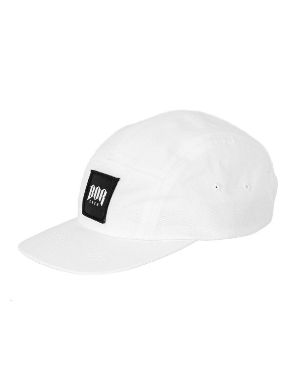 Czapka Bor 5Panel Kwadrat New White