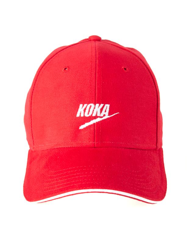 Czapka Koka 6Panel Fake Red