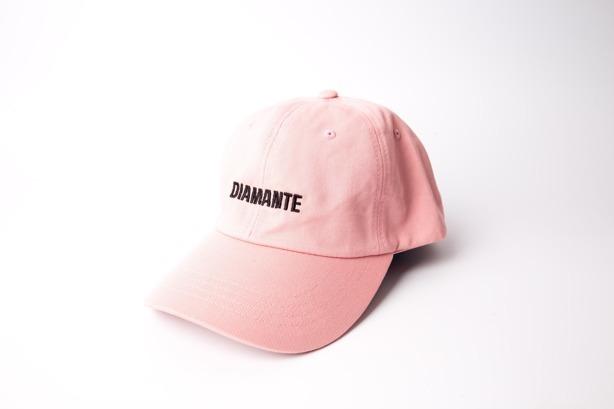 DIAMANTE CHICKS CAP BASEBALL LOGO PINK
