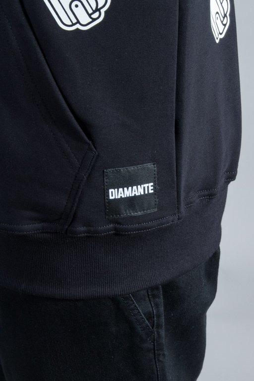 DIAMANTE WEAR HOODIE ZIP ADVENTURE BLACK