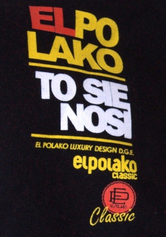 EL POLAKO BLUZA Z KAPTUREM ZIP KAPITAN BLACK