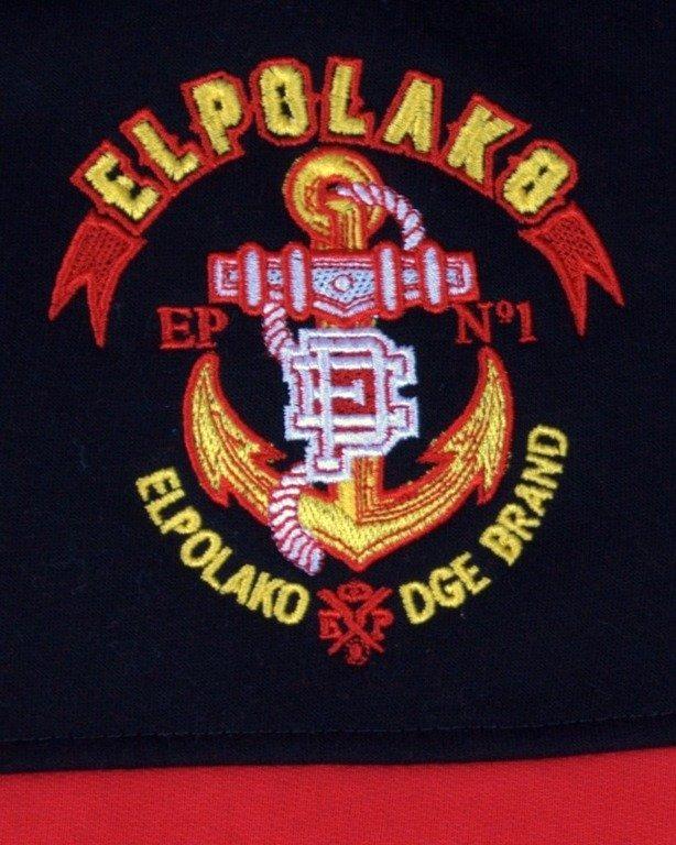 EL POLAKO BLUZA Z KAPTUREM ZIP KAPITAN BLACK