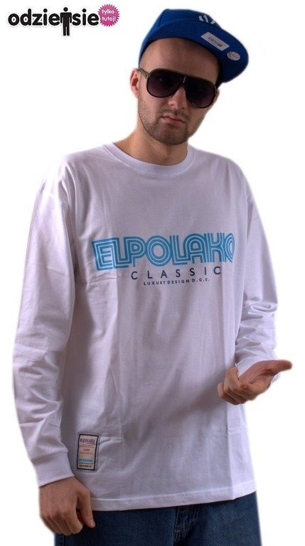 EL POLAKO LONGSLEEVE LABIRYNT WHITE