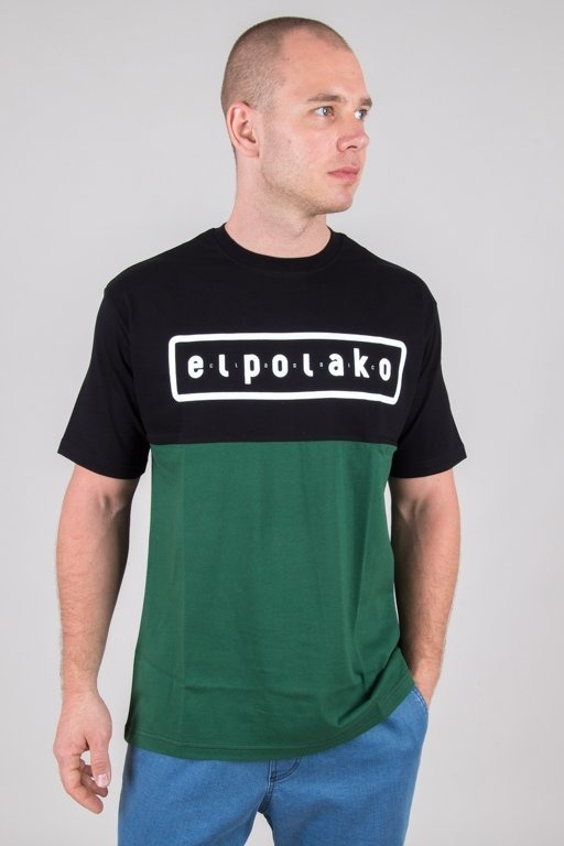 EL POLAKO T-SHIRT CLASSIC STYLE BLACK-GREEN