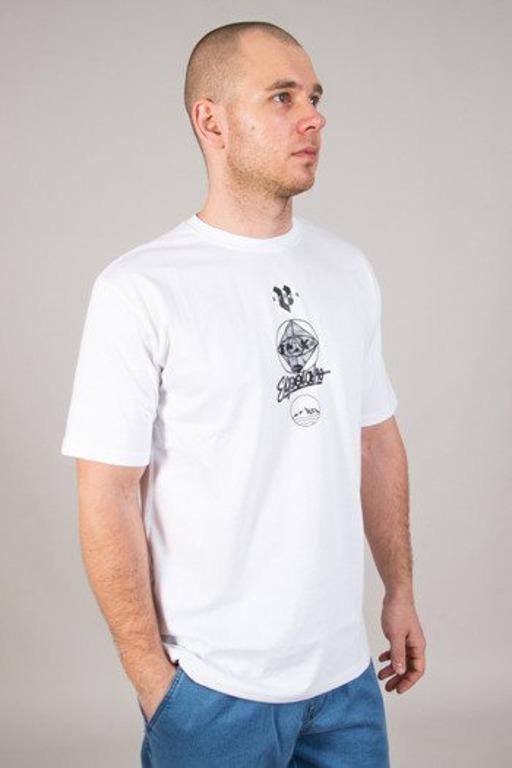 EL POLAKO T-SHIRT CYRCLE WORLD WHITE