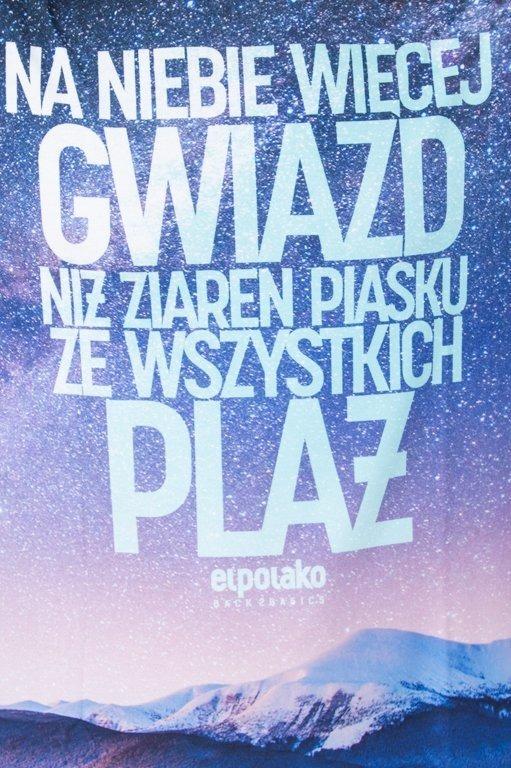 EL POLAKO T-SHIRT WIĘCEJ GWIAZD BLACK