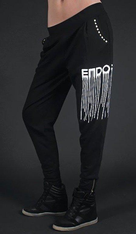 ENDORFINA SPODNIE DRIPPING BLACK
