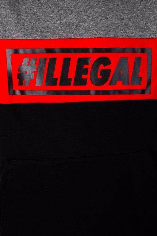 ILLEAL HOODIE ILLEGAL RED GREY