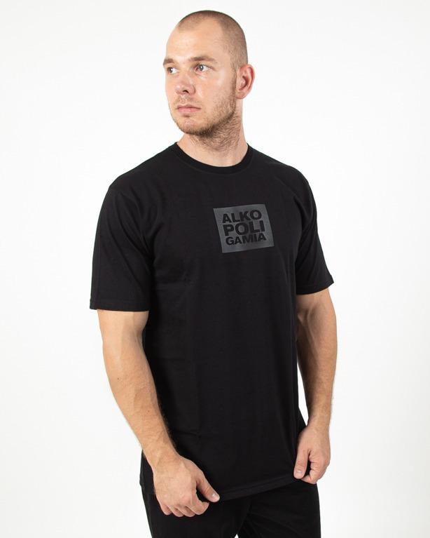 Koszulka Alkopoligamia Boxlogo Black