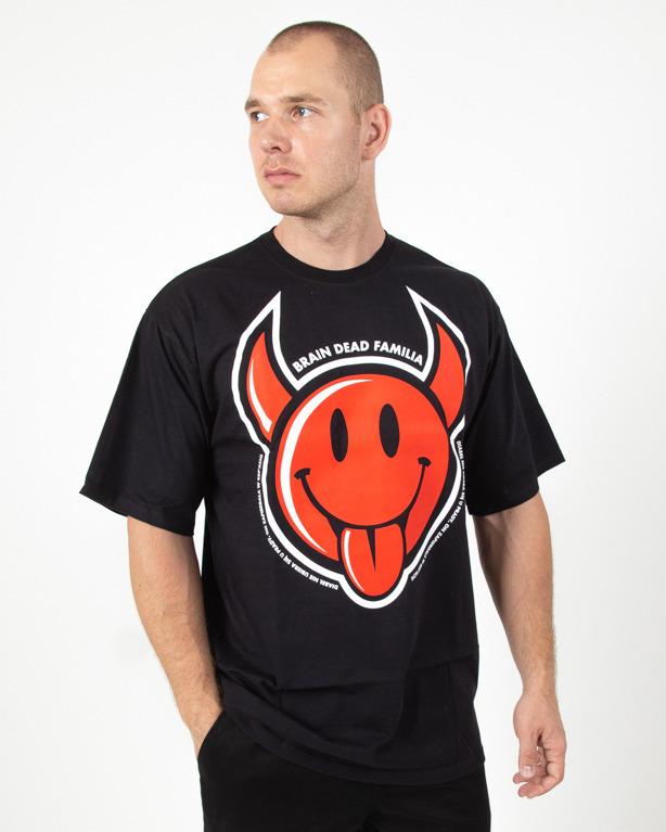 Koszulka Brain Dead Familia Diabeł Black