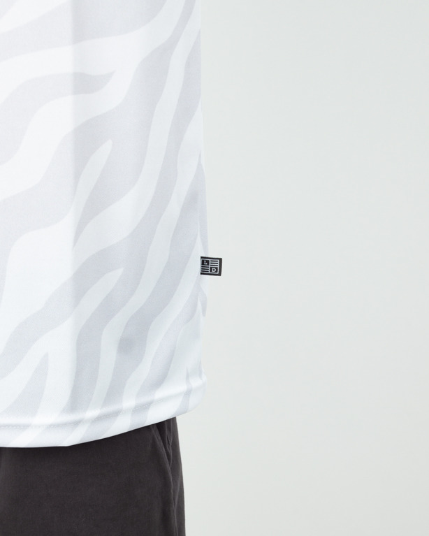 Koszulka Lucky Dice Tape Sb Animal Waves White-Grey