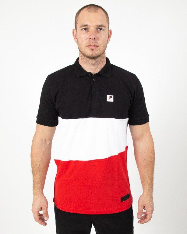 Koszulka Patriotic App White-Black-Red
