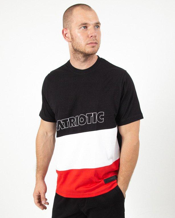 Koszulka Patriotic Futura Cross Line Black-Red
