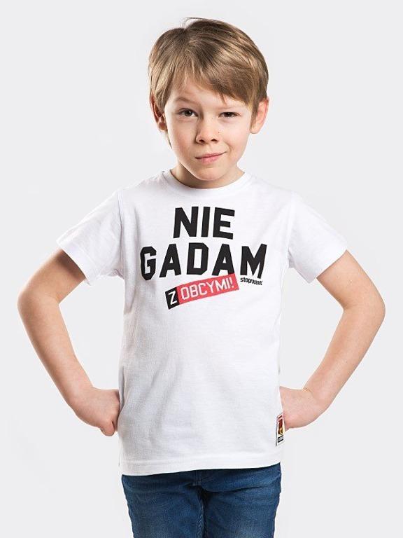 Koszulka Stoprocent Kid Nie Gadam White