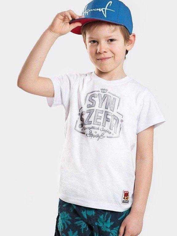 Koszulka Stoprocent Kid Syn Szefa White