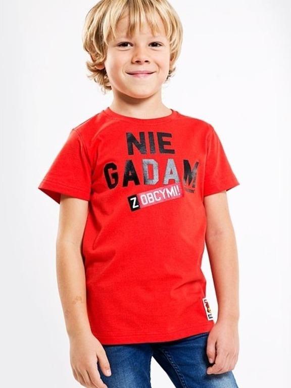 Koszulka Stoprocent Kids Nie Gadam Red